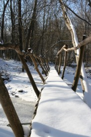 snow on bridge for docs