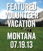 retro volunteer vacation