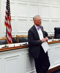 Congressman Earl Blumenauer speaks to Hike the Hill advocates.