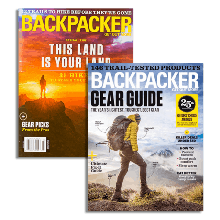 Backpacker Magazine covers for two issues