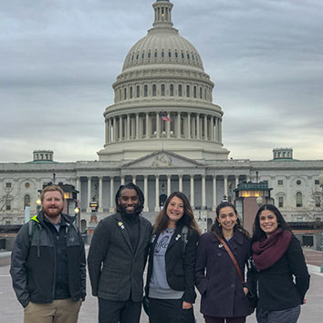 AHS NextGen Trail Leaders pose infront of the US Capital building during Hike the Hill.