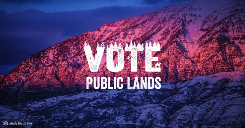 Vote Public Lands FB graphic-mountain-wordmark only