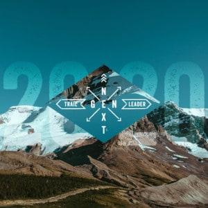 2020 NextGen graphic overlay on a glacial mountain skyline