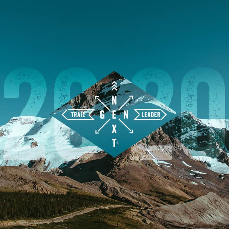 2020 NextGen graphic overlay on a glacial mountain skyline