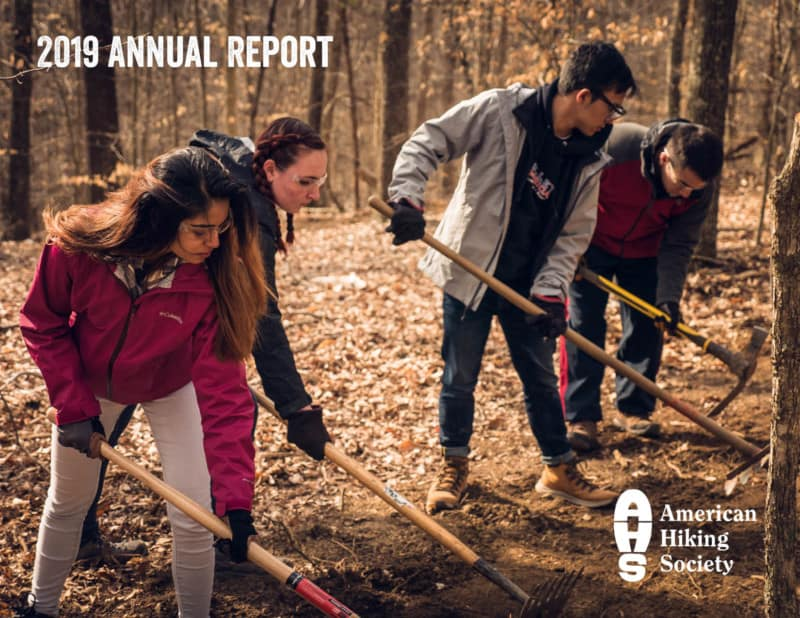 American Hiking Society 2019 Annual Report cover