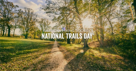 National Trails Day on a sunny spring morning