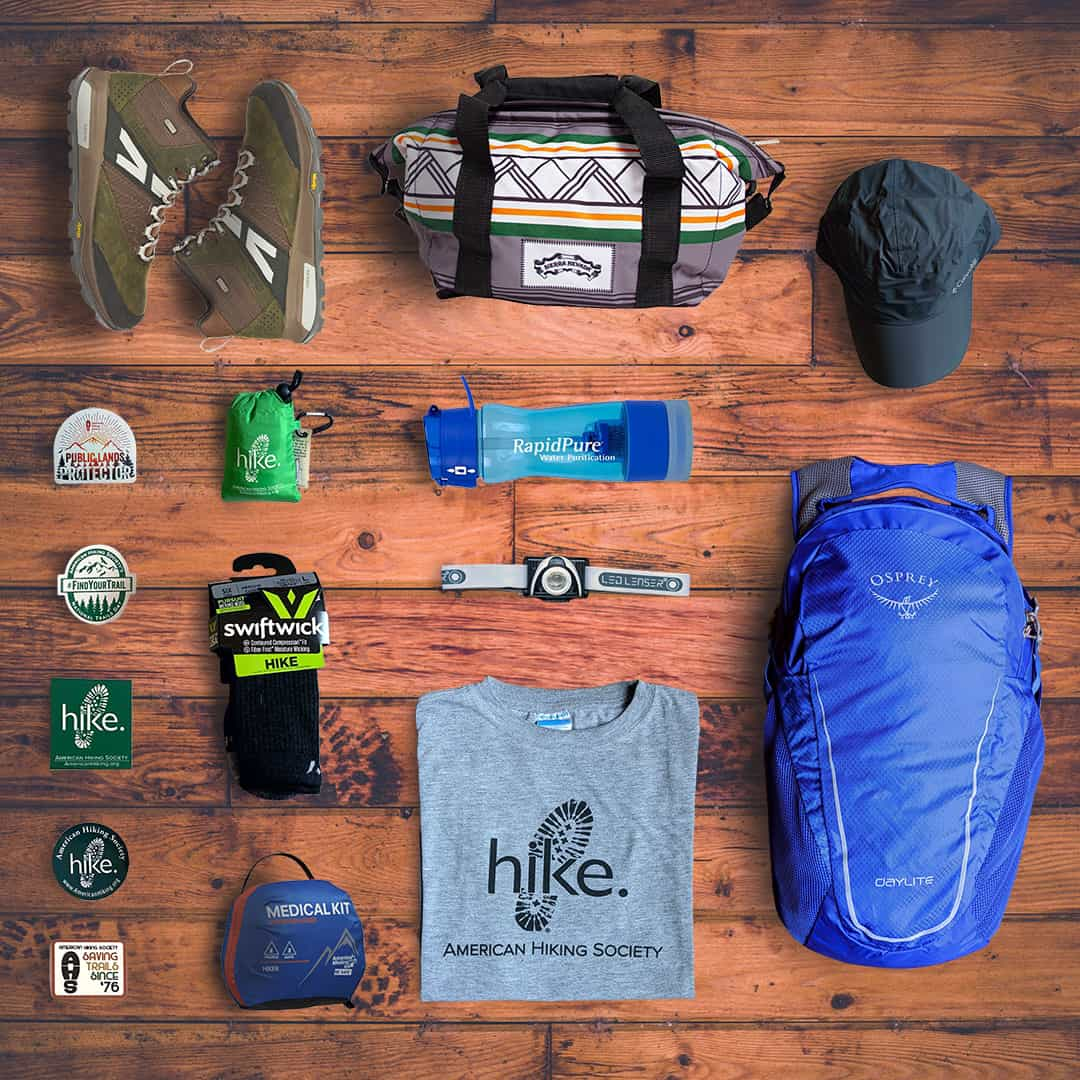 National Trails Day prize package of outdoor gear